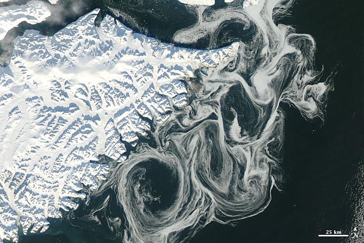 Спутник NASA видит призрачные остатки исчезновения арктического морского льда