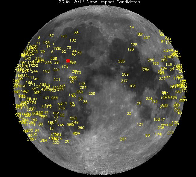 Яркий взрыв на Луне