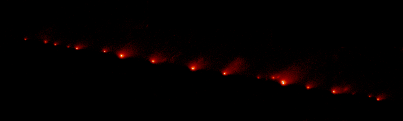 Идет ли комета на столкновении с Марсом?